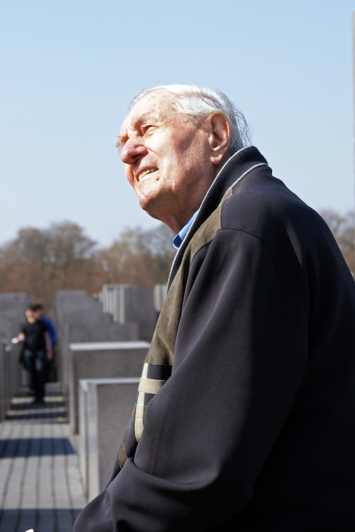 Rochus Misch at the Jewish Holocaust Memorial (Berlin, March 2007) © Kostas Kallergis